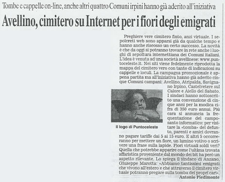 Corriere del Mezzogiorno 21 2 2003